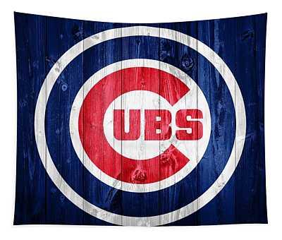 Chicago Cubs Barn Door Tapestry