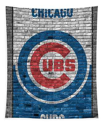 Chicago Cubs Brick Wall Tapestry