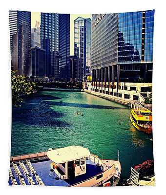City Of Chicago - River Tour Tapestry