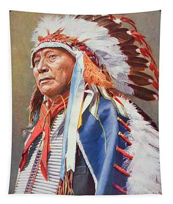Chief Hollow Horn Bear Tapestry
