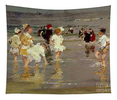 Children On The Beach Tapestry