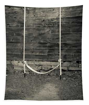 Child's Swing On An Old Farm Tapestry