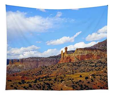 Chimney Rock Ghost Ranch New Mexico Tapestry