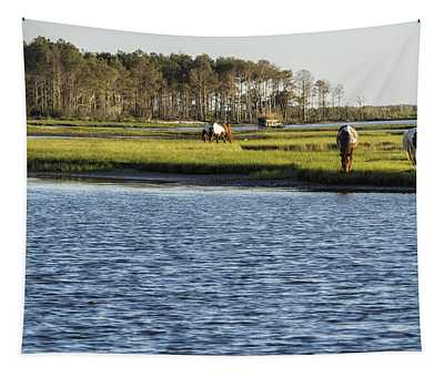 Chincoteague Ponies On Assateague Island Tapestry