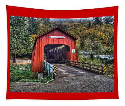 Chitwood Covered Bridge Tapestry