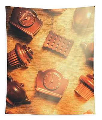 Chocolate Cafe Background Tapestry