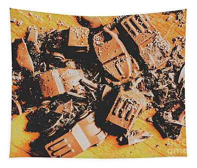 Chocolate Demolition Derby Tapestry