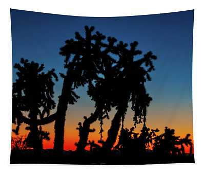 Cholla Silhouettes Tapestry