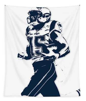 Chris Hogan New England Patriots Pixel Art Tapestry