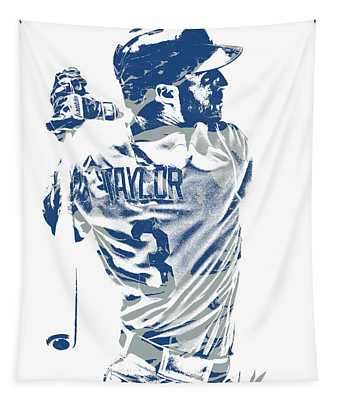 Chris Taylor Los Angeles Dodgers Pixel Art 5 Tapestry