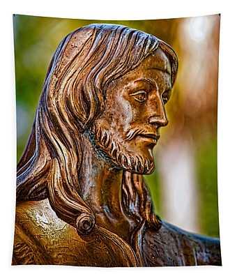 Christ In Bronze Tapestry