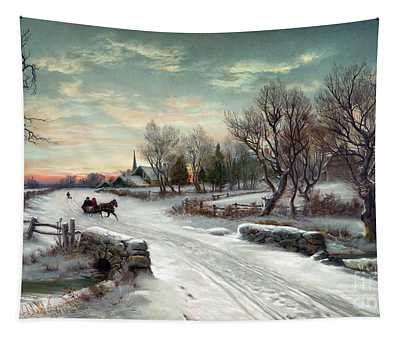 Christmas Morn, C1885 Tapestry