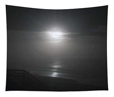 Christmas Night Moon Tapestry