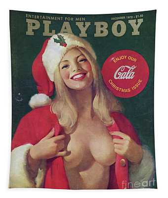 Christmas Playboy Vintage Cover Tapestry