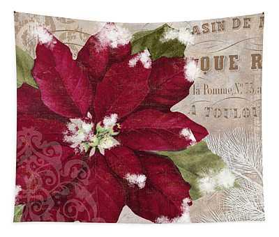 Christmas Poinsettia Tapestry