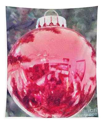 Christmas Reflected Tapestry