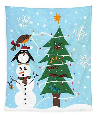 Christmas Team Work Tapestry