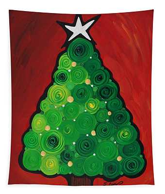 Christmas Tree Twinkle Tapestry