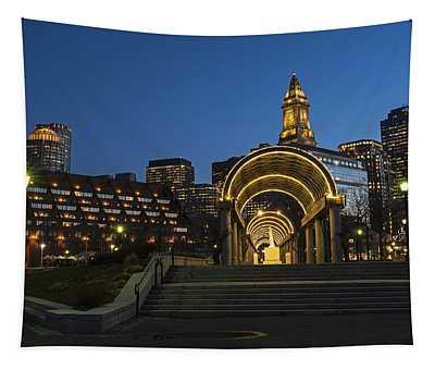 Christopher Columbus Park Boston Ma Trellis Custom House Tapestry