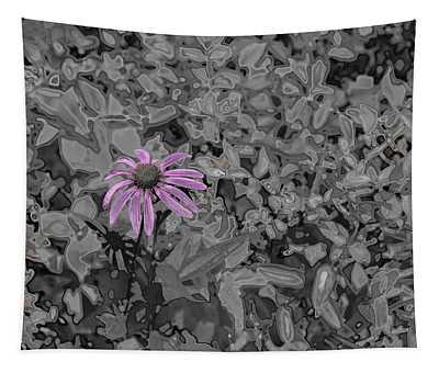 Chrome Purple Susan Flower Tapestry