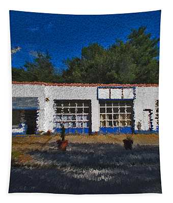 Churton St Blue Tapestry by David A Brown