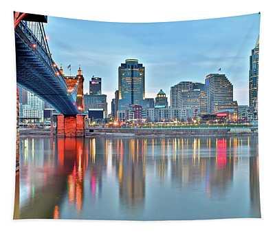 Cincinnati At Ground Level Tapestry