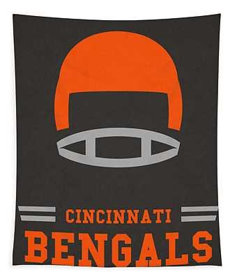 Cincinnati Bengals Vintage Art Tapestry
