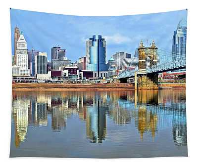 Cincinnati Ohio Times Two Tapestry