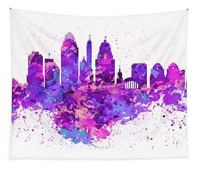 Cincinnati Skyline Tapestry