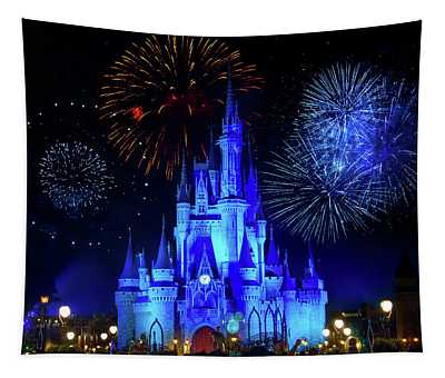 Cinderella Castle Fireworks Tapestry