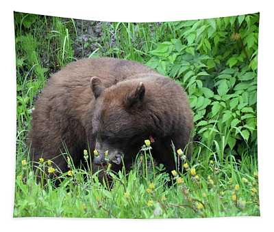 Cinnamon Bear British Columbia Tapestry