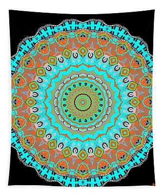 Tapestry featuring the digital art Circular Garden by Joy McKenzie