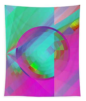 Tapestry featuring the digital art Circus Multiforms Bright by Joy McKenzie