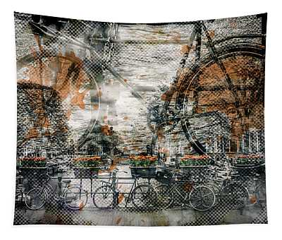 City-art Amsterdam Bicycles  Tapestry