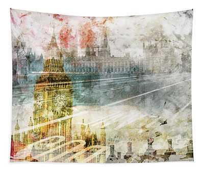 City Art Big Ben And Westminster Bridge II Tapestry
