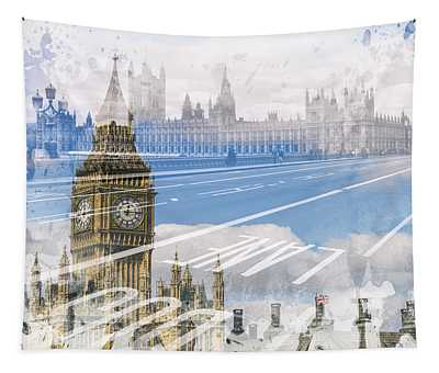 City Art Big Ben And Westminster Bridge Tapestry