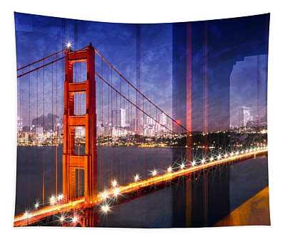 City Art Golden Gate Bridge Composing Tapestry