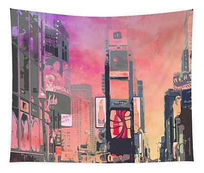 City-art Ny Times Square Tapestry