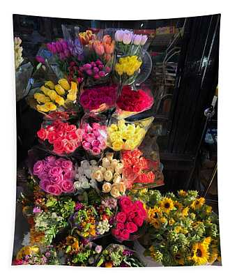 City Flower Stand Tapestry