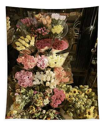City Flowers In Vintage Colors Tapestry