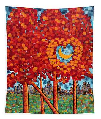 City Moonshine Tapestry