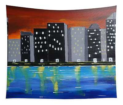 City Scape_night Life Tapestry