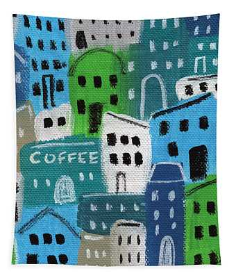 City Stories- Coffee Shop Tapestry
