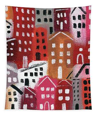 City Stories- Ruby Road Tapestry