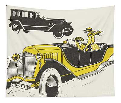 Classic Car From The Twenties Tapestry