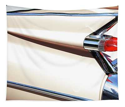 Classic Car Tail Fins Tapestry