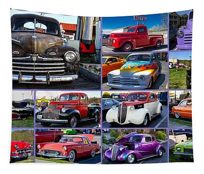 Classic Cars Tapestry
