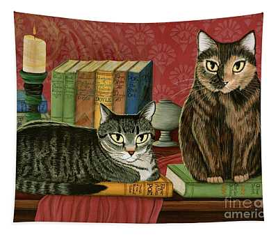 Classic Literary Cats Tapestry