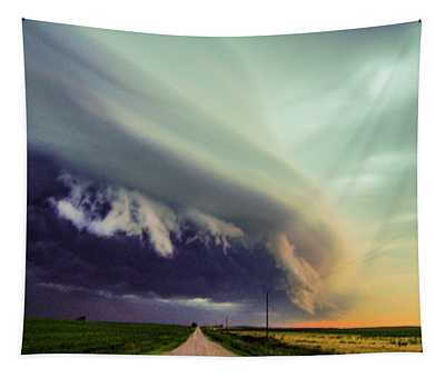 Classic Nebraska Shelf Cloud 024 Tapestry
