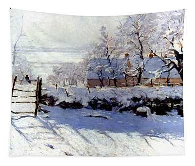 Claude Monet The Magpie - To License For Professional Use Visit Granger.com Tapestry